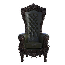 Royal Throne Isolated On White, 3d Render.