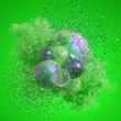 Leinwanddruck Bild - Beautiful background with purple smoke and steam. 3d illustration, 3d rendering.