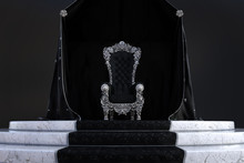 Gothic Throne Room Background, 3d Render.