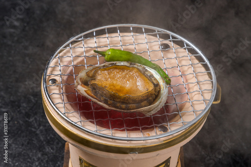 高級あわび 日本料理 Japanese food of abalone ear shell Canvas Print