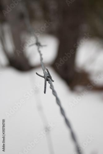 Photo Cerco de alambre púa