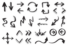 Hand Drawn Arrow Vector Icons ...