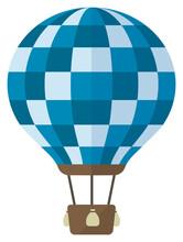 Hot Air Balloon Flat Vector Illustration