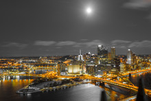 Pittsburgh With Super Blood Moon