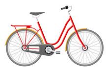 Old City Bicycle. Vintage Red ...