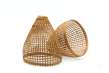 Handmade Substance Baskets On A White Background