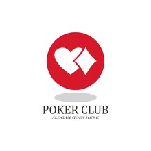 Poker Club Logo Design For Cas...