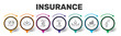 Leinwanddruck Bild - Insurance Infographics design. Timeline concept include medical insurance, accident insurance, travel insurance icons. Can be used for report, presentation, diagram, web design