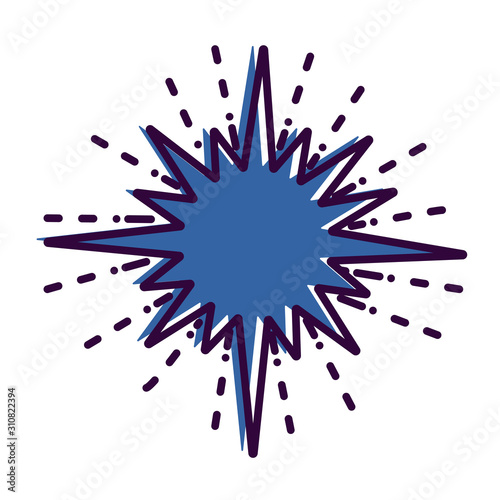 Space theme outline icon: star. Vector illustration. Canvas Print