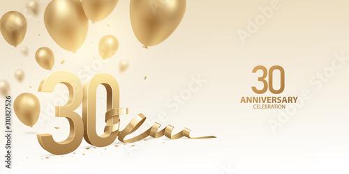 Billede på lærred 30th Anniversary celebration background