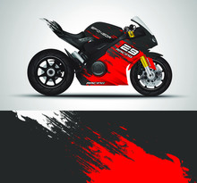 Racing Motorcycle Wrap Decal A...