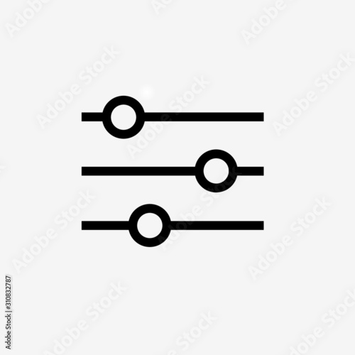 Fotomural Horizontal adjustment sign icon vector