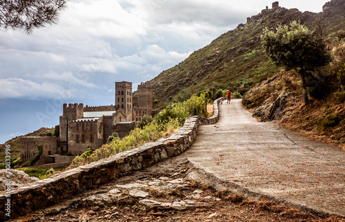 The Monastery of Sant Pere de Rodes, Spain Canvas Print