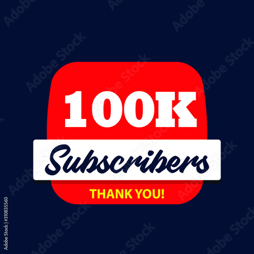 100 thousand subscribers celebration thank you Slika na platnu