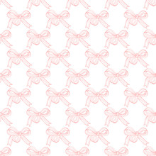 Cute Seamless Pattern With Bow...