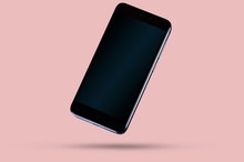 Black Modern Smartphone With D...