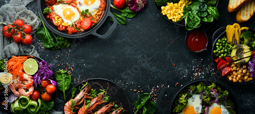 Fototapeta Dishes background