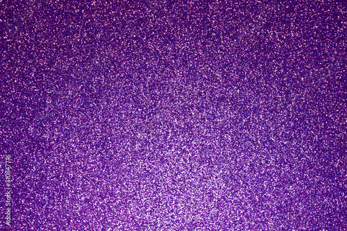 Magic Violet Abstract Glitter Background. Shine Bokeh Effect. For party, holiday, celebration.