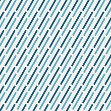 A Simple Seamless Vector Abstract Pattern With Teal Andblue Dashed Diagonal Lines On A White Background. Mminimal Unisex Srface Print Design.