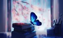 Beautiful Blue Coloured Butter...