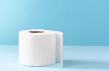 Toilet Paper White Roll On Blu...