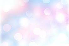 Blue Pink Bokeh Blurred Abstra...