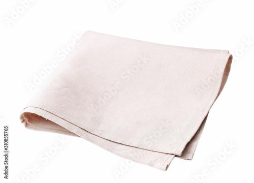 Litchen cloth folded isolated on white. Tapéta, Fotótapéta
