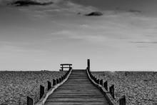 Boardwalk On Bleak Dramatic Be...