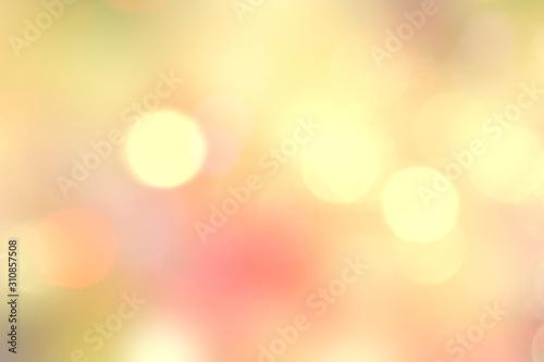 Yellow natural bokeh blurred lights backdrop.Autumn design illustration.