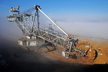A Huge Bucket-wheel Excavator...
