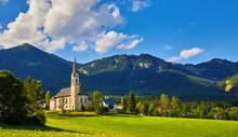Austria Mountain Landscape. Tr...