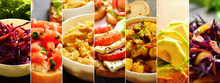 Collage Of Food And Vegetables...