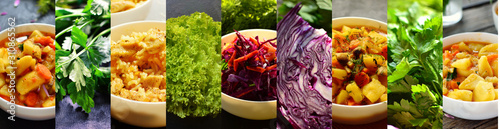 Photo Collage of food and vegetables