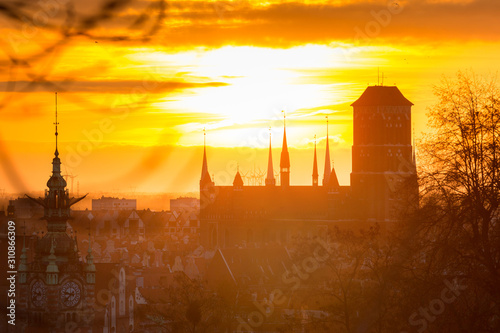 amazing-sunrise-over-the-gdansk-city-in-poland