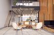 Leinwanddruck Bild - modern living interior