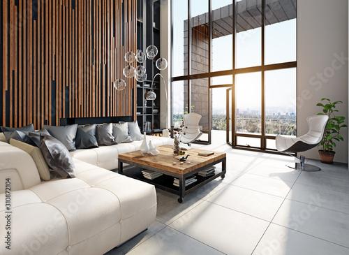 modern living interior Fototapeta