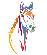 Colorful Decorative Horse 2