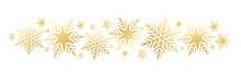 Gold Vector Snowflake Banner