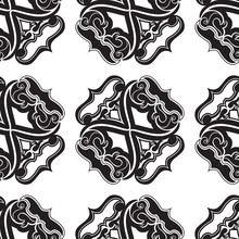 Black Seamless Vector Pattern ...