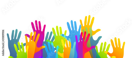 Fotomural mani, comunità colori, solidarietà
