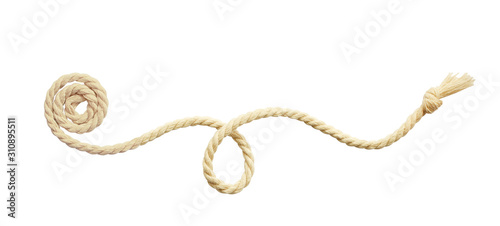 Beige cotton rope arrangement Tableau sur Toile
