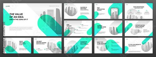 Fotografía Business presentation templates set