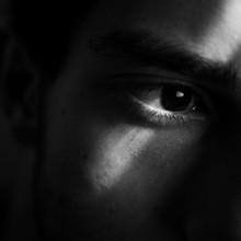 Cute Eye Black And White Shado...
