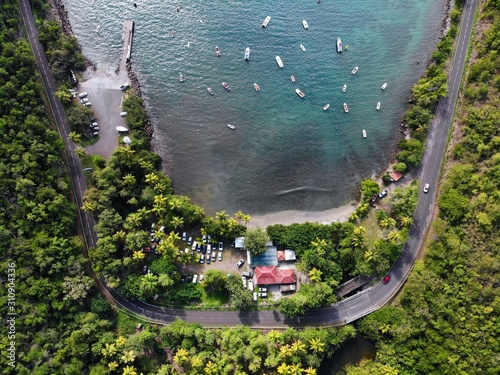 Photo Guadeloupe road and harbor