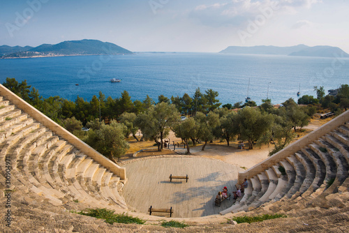 view from dramatic amphitheater (landscape at a day) Fototapeta