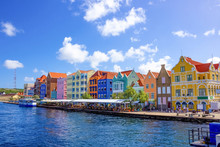 Specific Coloured Buildings In Curacao