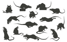 Rats Silhouettes Set