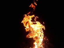 Closeup Dancing Flame