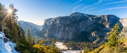 Yosemite Valley Panorama Canvas Print