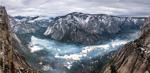Yosemite Valley Panorama Wallpaper Mural